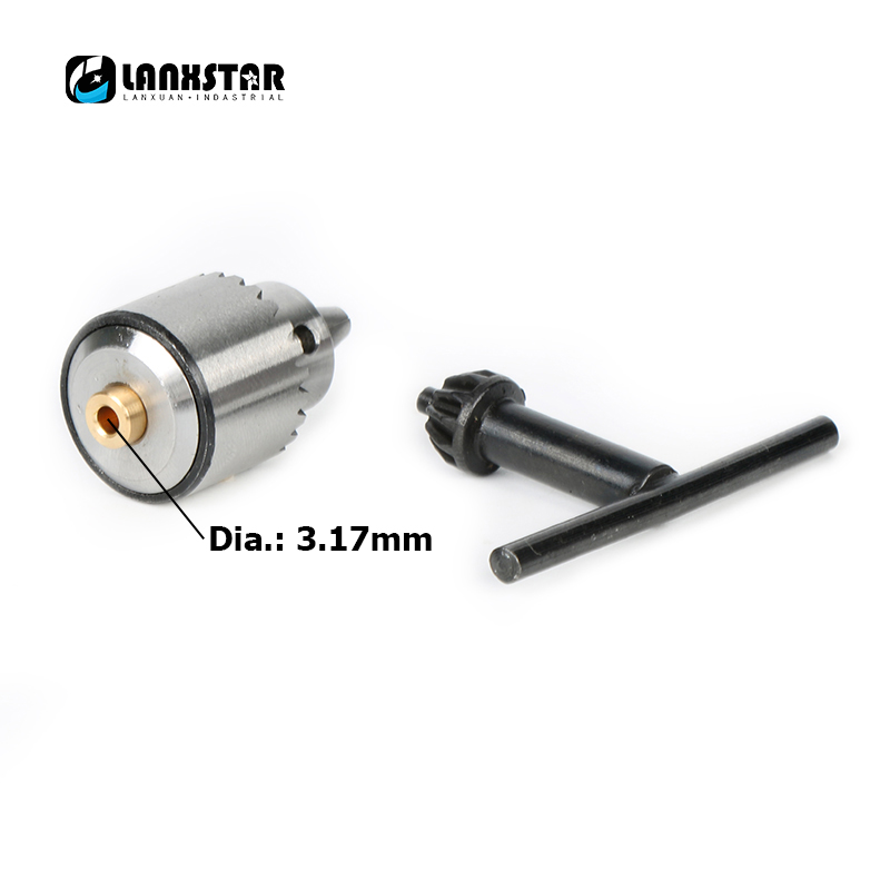 Mini Drill JTO Chuck 0.3~4mm With 1/8'' Copper Sleeve Fit 3.17mm Motor Shaft PCB Drill Engraving Press Hand Drilling Chucks
