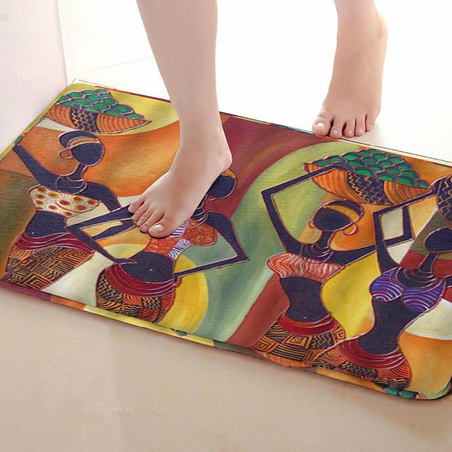 Women Style Bathroom Mat Funny Anti Skid Bath Shower Curtains Accessories Matching