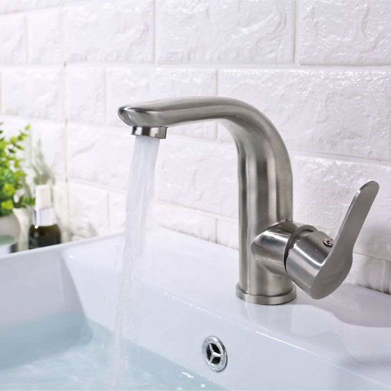 IVRICH Graceful Arc Basin Faucet SUS304 Stainless bathroom faucet Hot Cold sink faucet robinet lavabo wasserhahn VR0305