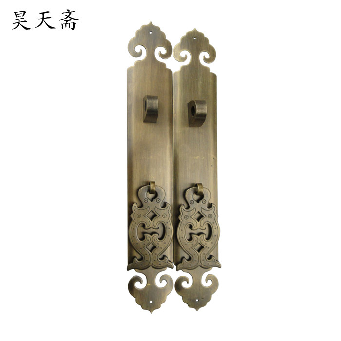 [Haotian vegetarian] antique cupboard door bookcase door handle copper door handle HTC-2 [haotian vegetarian] antique copper handle wardrobe cupboard furniture bookcases handle htc 278 lotus trumpet section