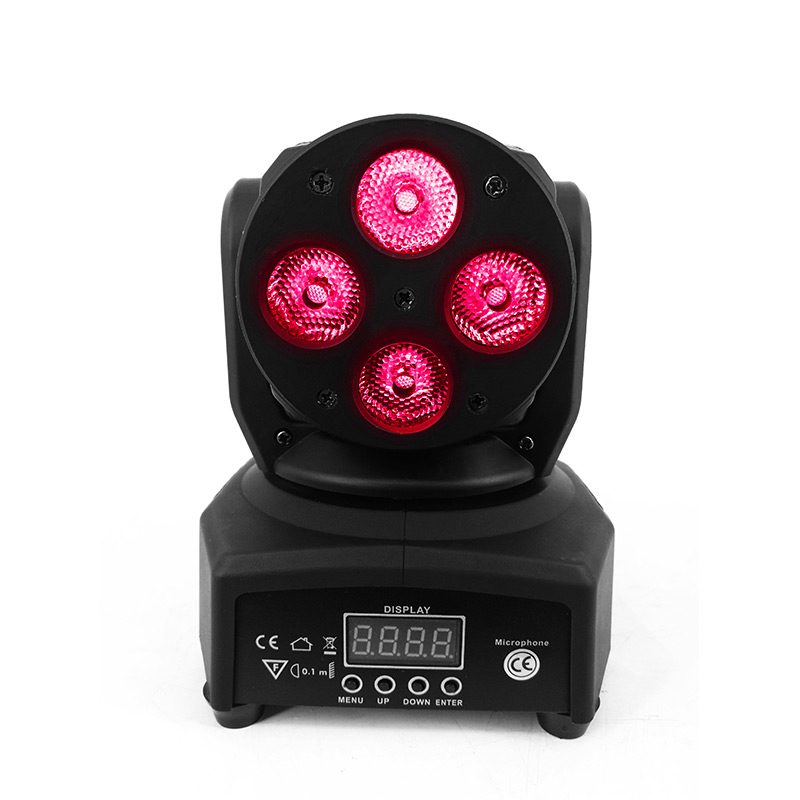 Cool LED Moving Head Mini wash 4x10w RGBW Quad DMX Stage Light 0-100% Dimmer free shipping 10 pieces promotional packaging led moving head mini wash 4x10w rgbw quad with advanced 9 12 channels free