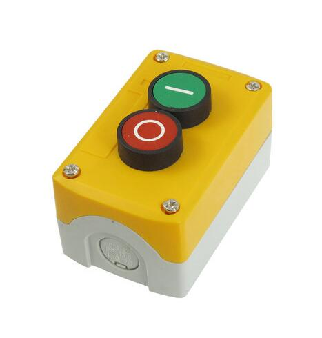 все цены на  NC Red NO Green Flat Push Button Momentary 2 Switch Control Station SPST 240V 3A  онлайн