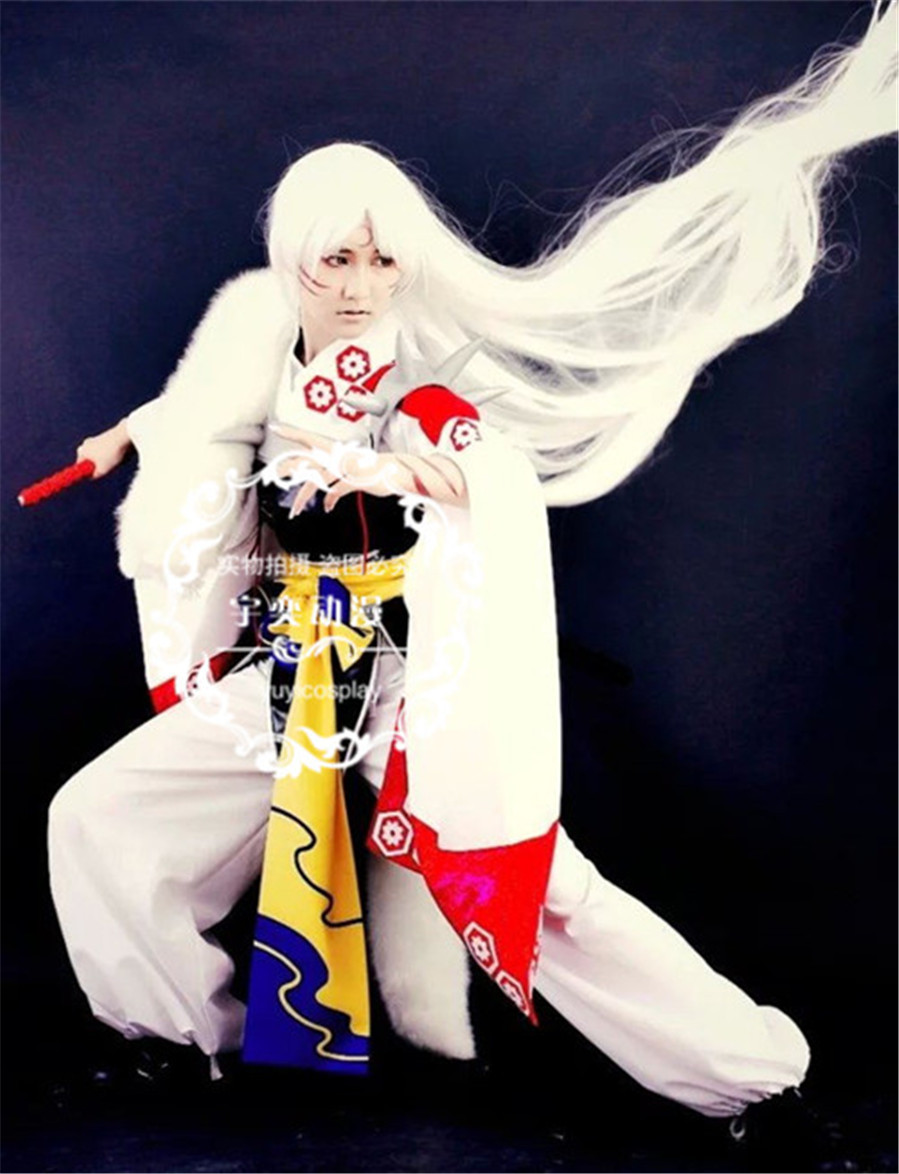цены Anime Inuyasha Sesshoumaru Cosplay Costume Free shipping