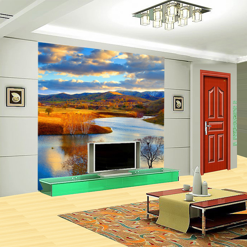 Modern Living Room Murals Autumn Forest Wall Mural Promotion Shop For Promotional