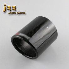 JZZ Универсальная Высокоглянцевая автомобилей качество матовый прокат akrapovic углеродного волокна 89 мм/102 мм/114 мм для выхлопной трубы