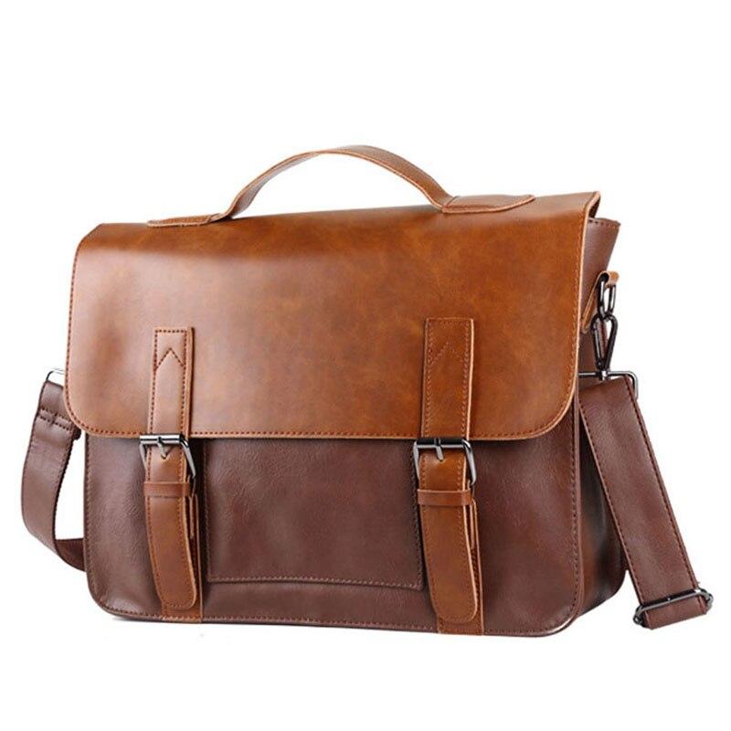 Multifunction Men'S Handbags Laptop Bag Male Bolsa High Quality Leather Waterproof Bags Men'S Messenger Shoulder Bags Luxury Hot