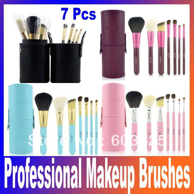 Portable 7pcs professional Makeup Brushes & Tools Eyeshadow Brushes Set Cosmetics brushes for makeup,makeup kit free shipping 147 pcs portable professional watch repair tool kit set solid hammer spring bar remover watchmaker tools watch adjustment