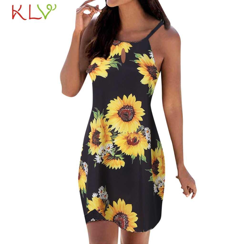 שמלת נשים jurkjes אלגנטי בציר Boho הדפסת קיץ שמלת המפלגה וחוף בתוספת גודל מזדמן לילה 2019 Vestidos Robe Femme 19Jl