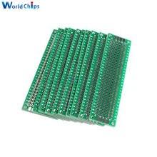 Module de carte électronique Double face PCB, Kit de bricolage universel, 2x8 cm 20x80mm FR4, 5 pièces