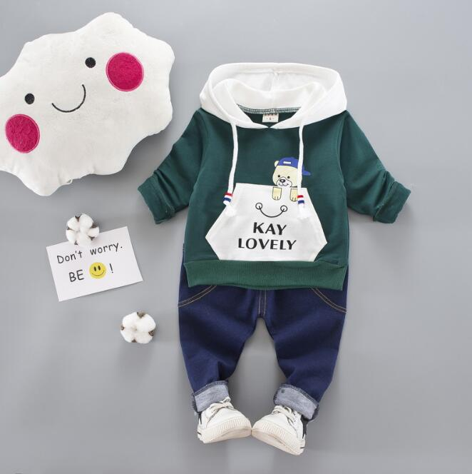 2018 Toddler Baby Boys Girl Clothing Set For Kids Casual Hooded Autumn Spring Childrens Sports Suits Clothes T-shirt + pants