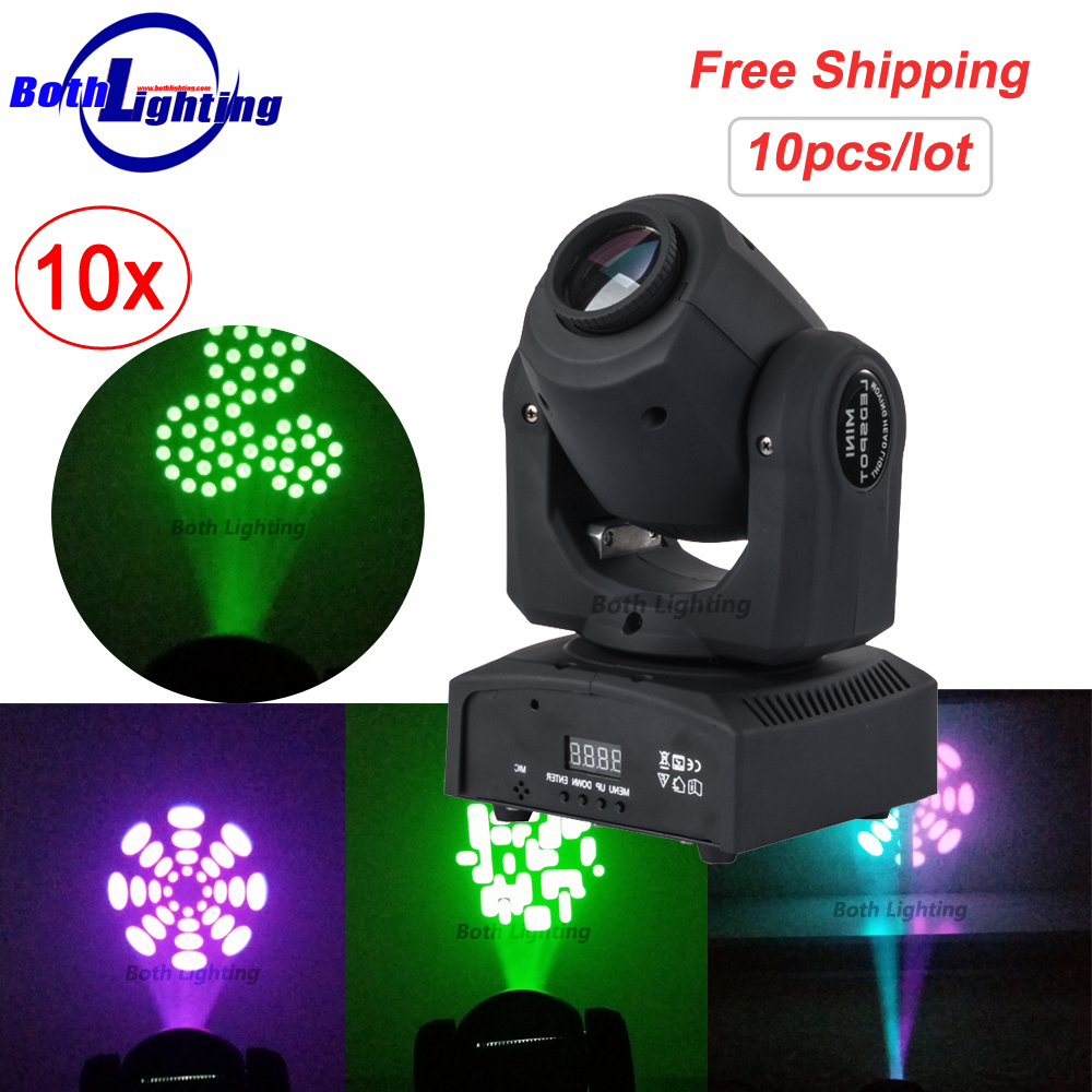 Micro potente Cree 30 W gobos efecto iluminación de escenario LED cabeza móvil punto luz DMX Mini luces de escenario barra de luz