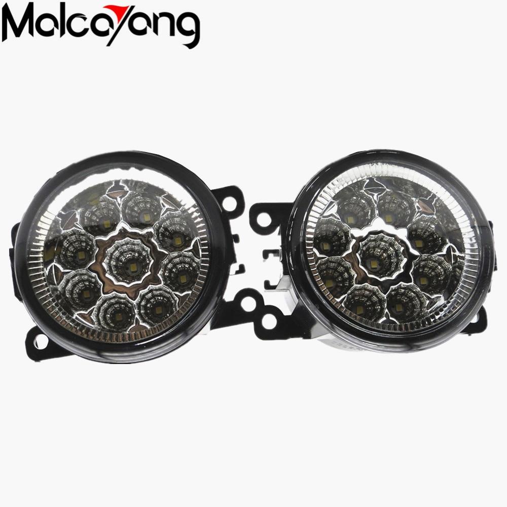 2 Pcs/Set Car-styling 6000K CCC 12V 55W DRL Fog Lamps Lighting For Renault LOGAN Saloon LS 2004-2015 35500-63J02 car styling fog lights for bmw e64 2004 05 06 12 v 1 set