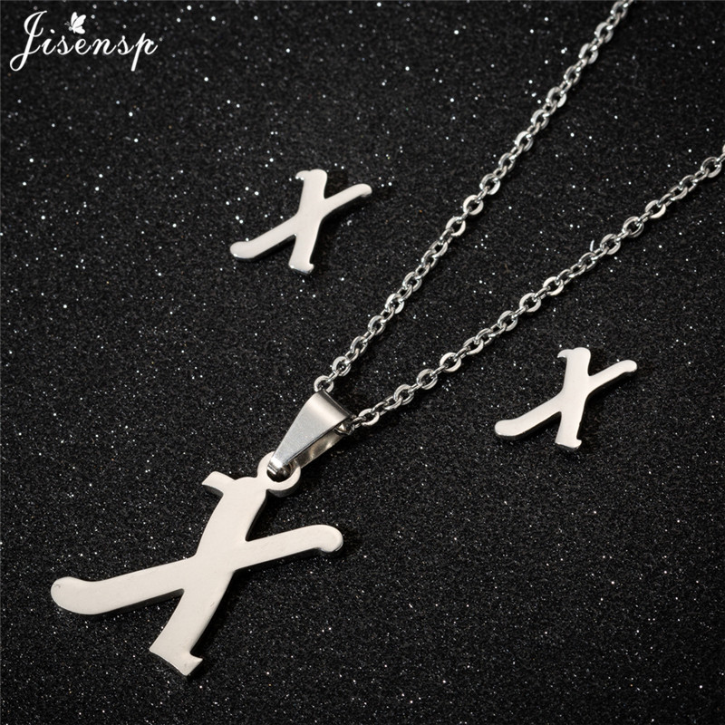 Jisensp Personalized A-Z Letter Alphabet Pendant Necklace Gold Chain Initial Necklaces Charms for Women Jewelry Dropshipping 49