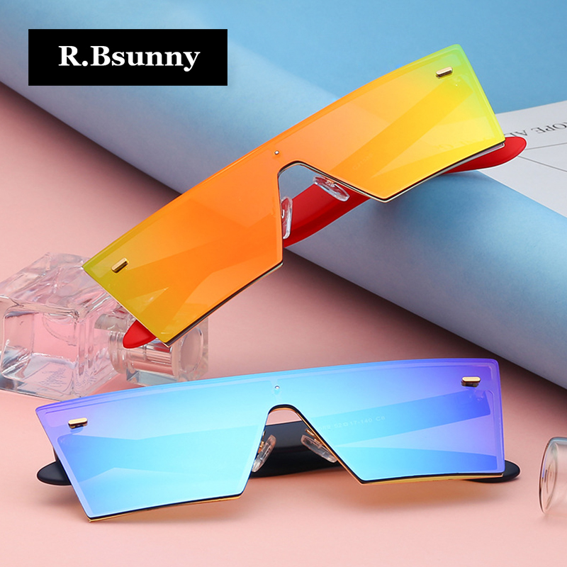 R.Bsunny Fashion men and women sunglasses European and American popular Overall HD color lens Party driving Goggles Gafas De Sol