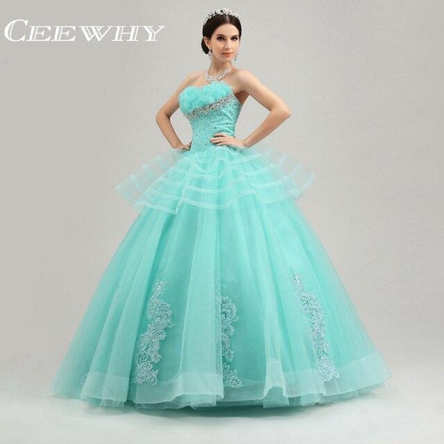 dd6ed0068 Por Encargo Del Bordado de Cristal de Novia Vestido de Fiesta Sin Tirantes  Balón vestido de