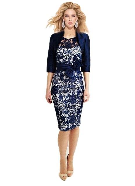 2015 neue Mode Kleider Mutter der Braut Zwei Stück Knie Länge 3/4 ...