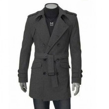 New Autumn Winter Windproof Comfortable men Trench Fashion Designer man Slim Men