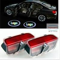 1set No Drilling For Superb Car Styling Led Door Step Logo Light Decoration Ghost Shadow Lamp
