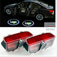 1set No Drilling For Superb Car Styling Led Door Step Logo Light Decoration Ghost Shadow Lamp
