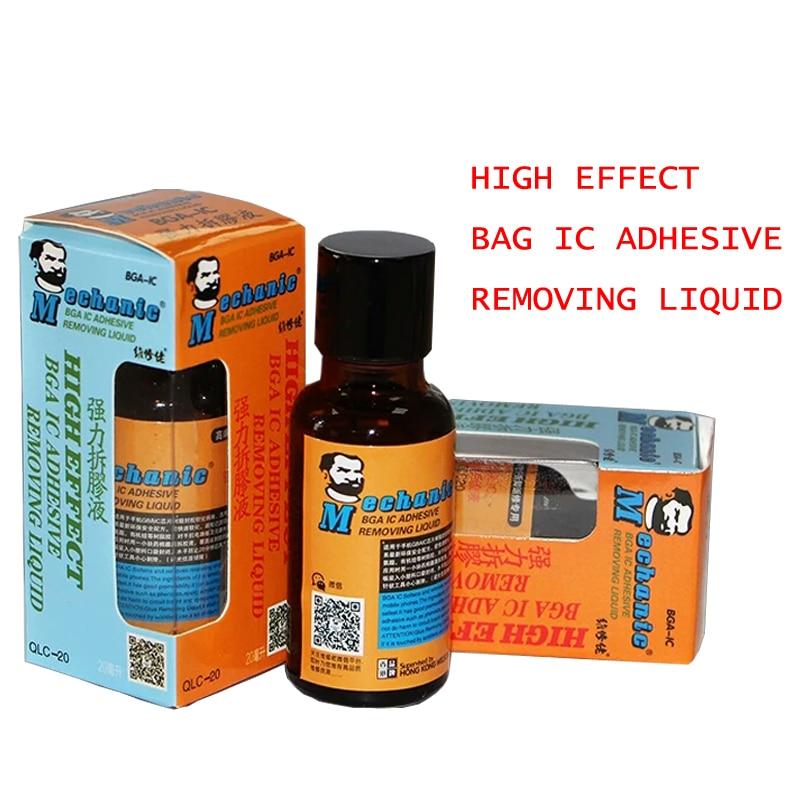High effect BGA IC Adhesive Glue Removing Epoxy Remover Cell Phone CPU Chip Cleaner 20ml BGA-IC Repair Remove Liquid Tool hot 90 days warranty mdm6610 bga mdm6610 ic chip stock