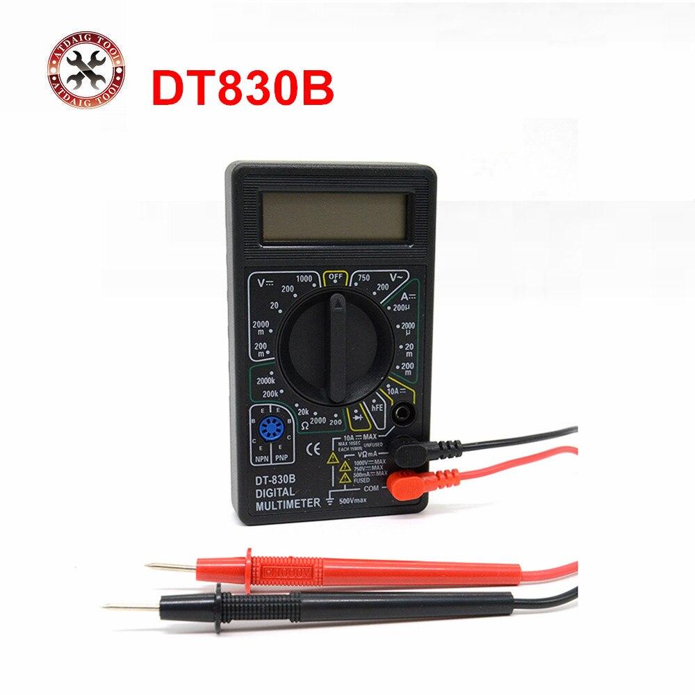 AC/DC Amperemeter Voltmeter Ohm Elektrische Tester Meter Professionelle Digitale Multimeter DT830B