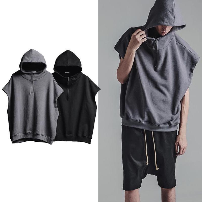 Compare Prices on Sleeveless Zip Hoodie Men- Online Shopping/Buy ...