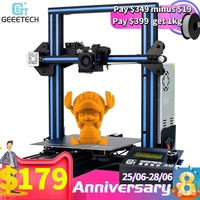 Geeetech A10 / A10M /A30/A20/A20M 3d Printer Fast Assembly with Super Hotbed Filament Detector and Break resuming Capability