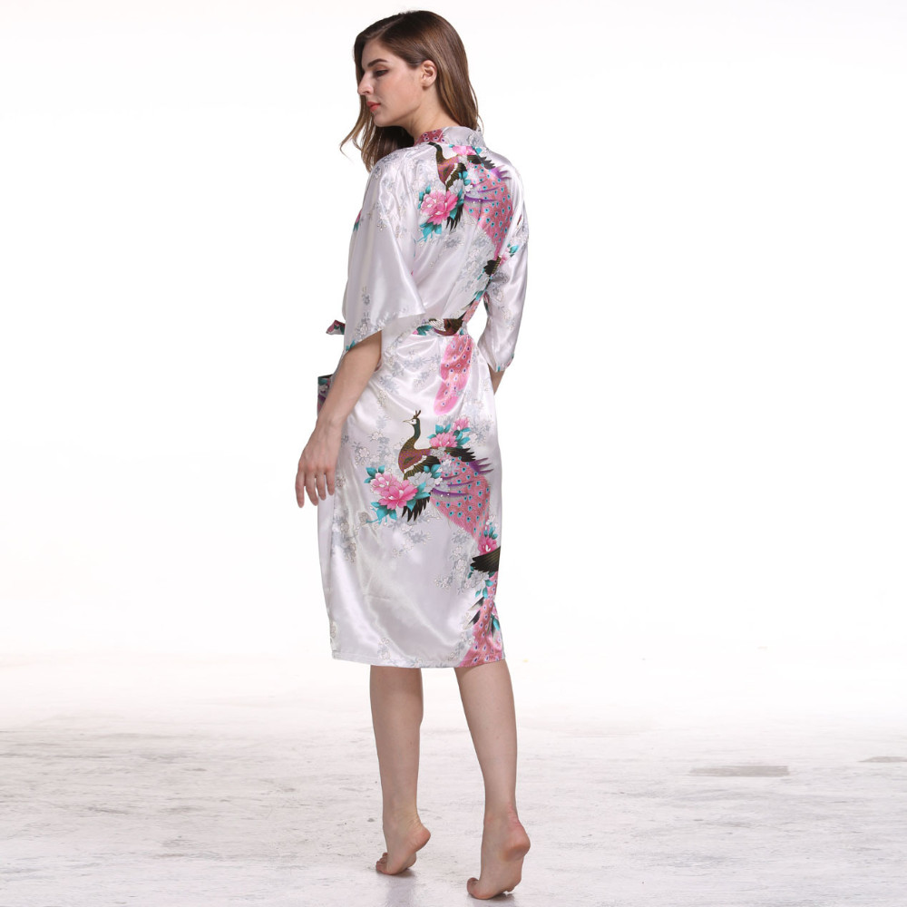 Detail Feedback Questions about New Women Satin Kimono Robes Floral ... 72ff6c81d