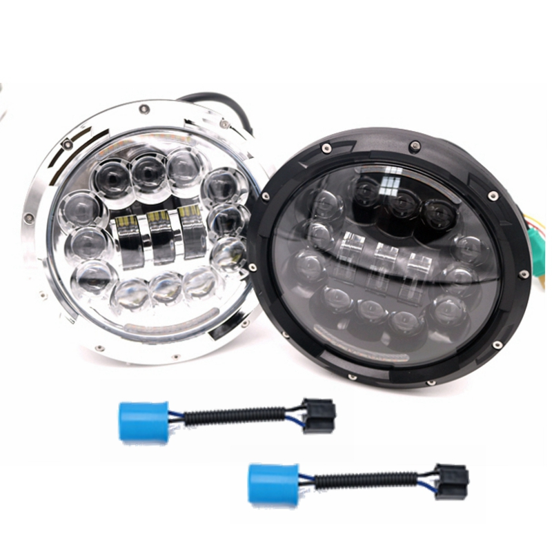 7Inch LED Headlight White Halo Daymaker Angel Eye & DRL LED Projection Headlight Kit for Jeep Wrangler JK LJ CJ Hummer H1 H2 windshield pillar mount grab handles for jeep wrangler jk and jku unlimited solid mount grab textured steel bar front fits jeep