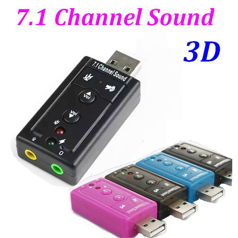 External USB to 3D Audio USB Sound Card Adapter 7 1 Channel Professional Microphone Headset 3