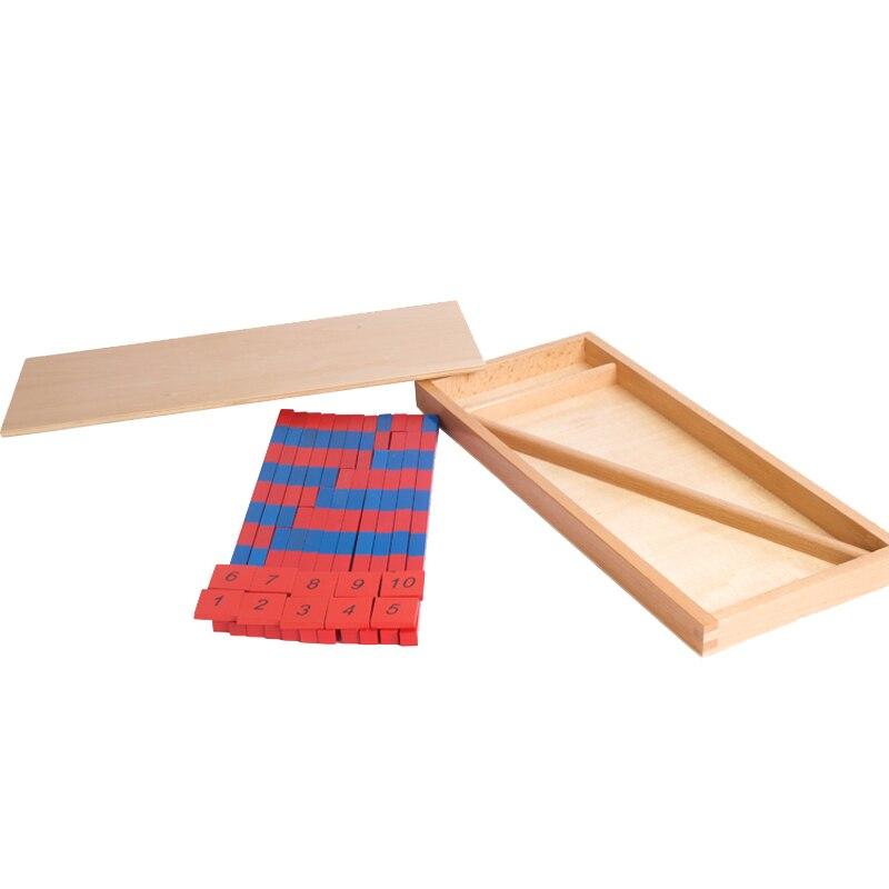 Jouets mathématiques Montessori en bois petit nombre de tiges avec des tuiles jouets éducatifs d'apprentissage préscolaire pour enfants cadeau d'anniversaire ME2265H