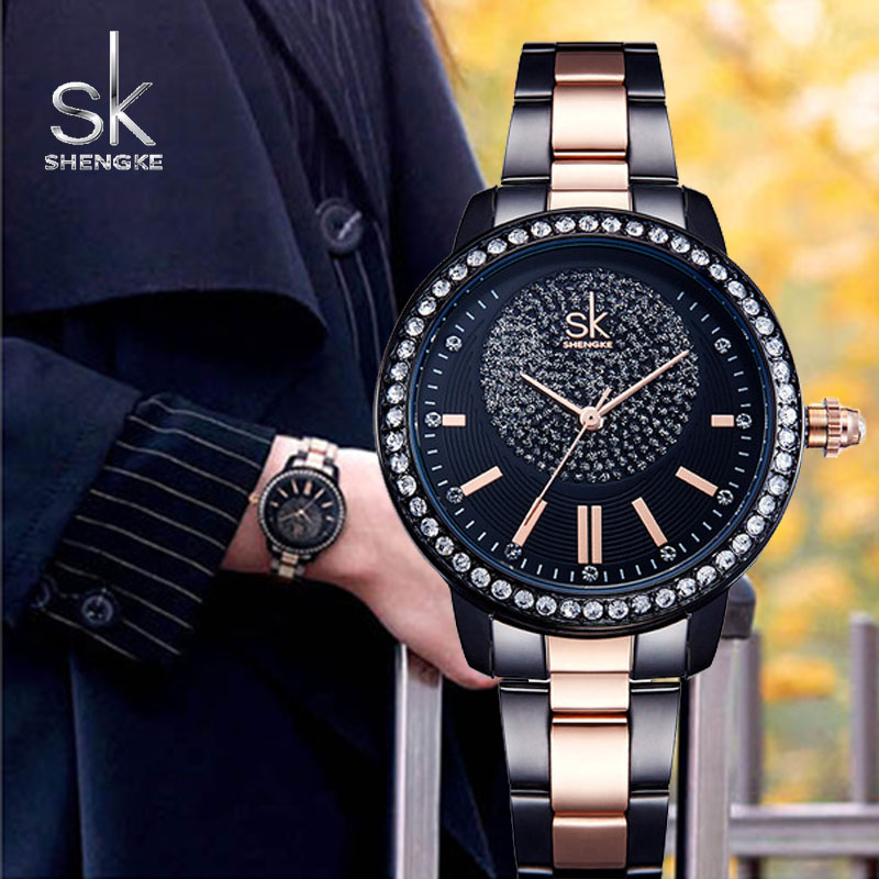 SK Bracelet Watch Women Top Brand Luxury Crystal Ladies Quartz Wrist Watches Women Stainless Steel Watch Female Relogio FemininoSK Bracelet Watch Women Top Brand Luxury Crystal Ladies Quartz Wrist Watches Women Stainless Steel Watch Female Relogio Feminino