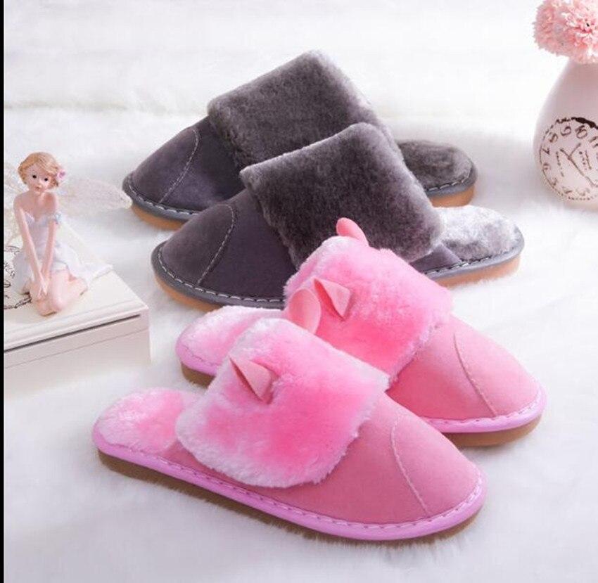 Zapatos planos de Casa de remolque de algodón Baotou