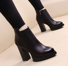 Winter High Heel Boots Pointed Martin Boots Short Thick With Short Boot Women's Shoes sys-809