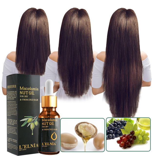 Argan Oil Hair Care Treatment Essence Fast Powerful Hair Growth Liquid Hair Loss Products Serum Repair Hair Keratine Herbal 20ml