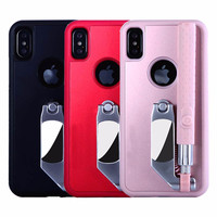 2 in 1 Multi Function Selfie Stick Phone Cases For iPhoneX Case Cover Portable Foldable For iPhoneX Case Stretch Handheld