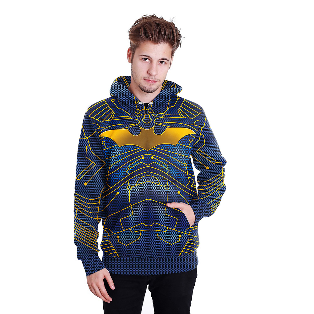 Super Hero and Extinguish 3D Print Hoodies with Hat Men Round Neck Loose Sweatshirt Pullover Sudaderas Para Hombre Streetwear