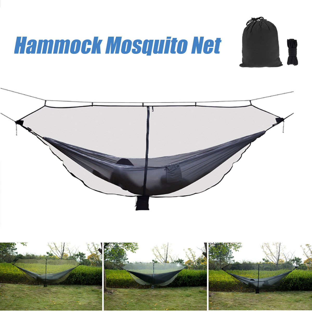 Separate Hammock Mosquito Nets Outdoor Yard Travel 1-2 Person Portable Double Mosquito Hammock Mosquito Net fancy forest backdrops for photo outdoor shooting photography backgrounds for photo studio photographic background fotografia