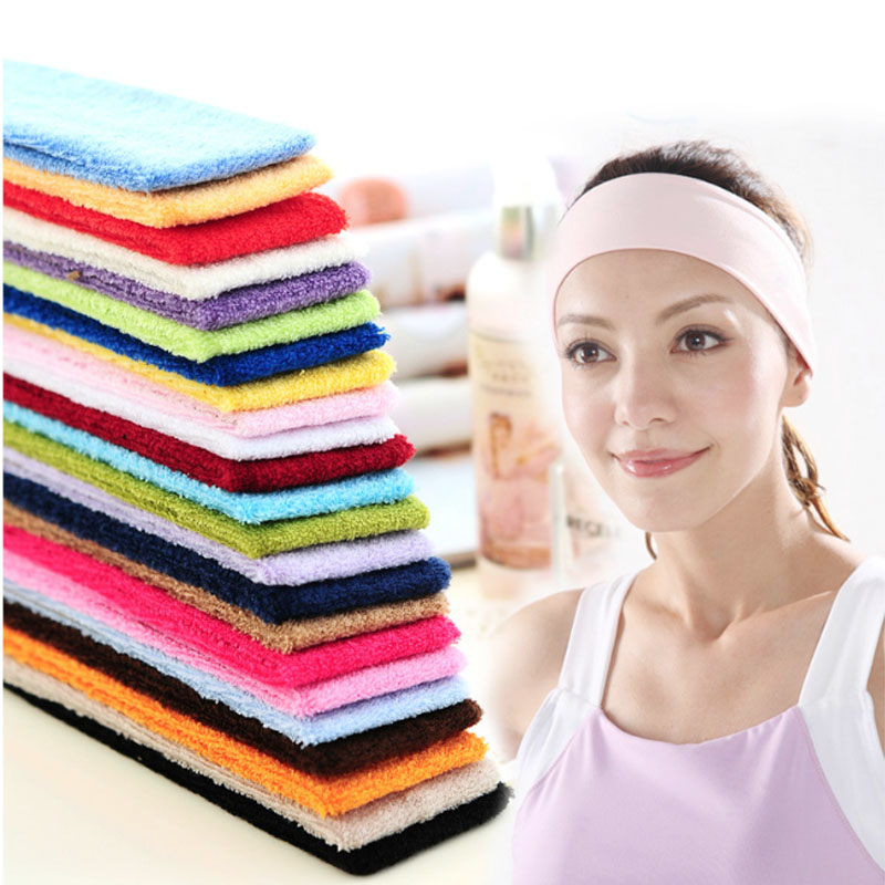 FRANKEES Towel Men and women Cotton Yoga Basketball Sweat Headband Europe and America Hair band Wash Cotton Headband Hair band 1