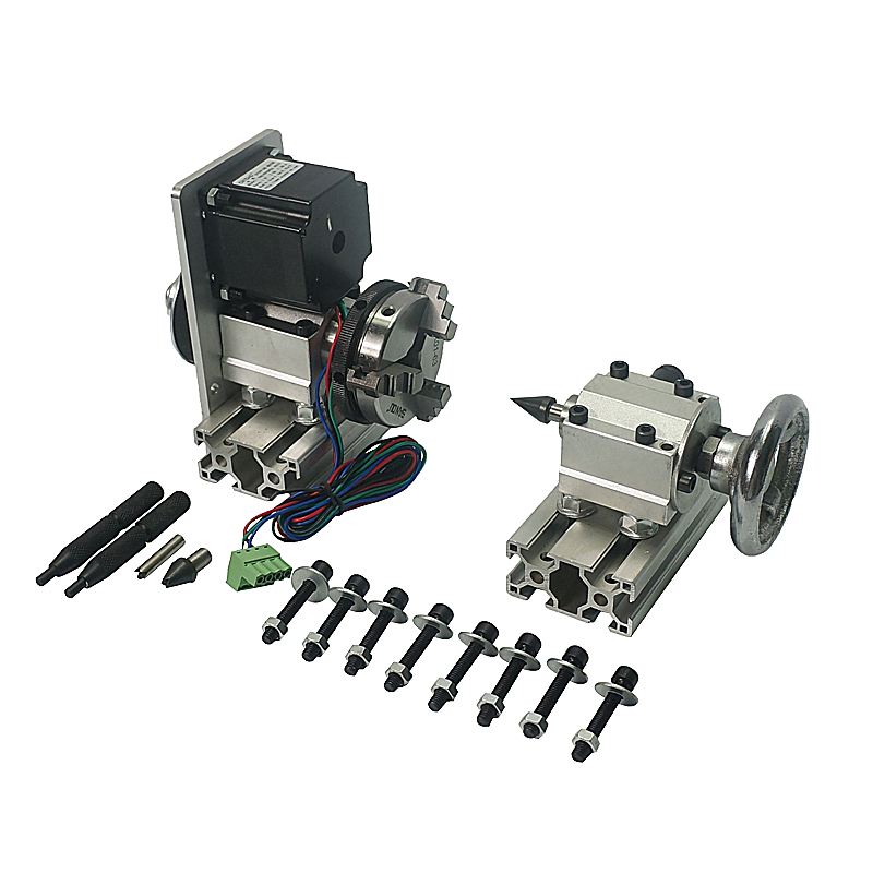 (NO TAX TO Russia) NEW released diy cnc router kit 4th axis Rotary axis with 3 jaw chuck active thimble цены