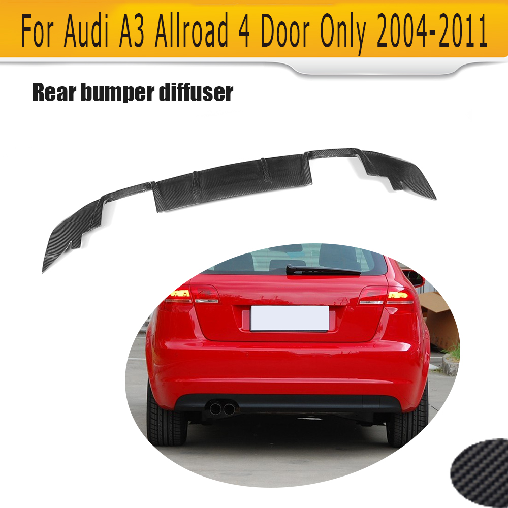 Allroad Carbon Fiber Auto Racing <font><b>Rear</b></font> <font><b>Diffuser</b></font> Lip Spoiler for <font><b>Audi</b></font> <font><b>A3</b></font> Wagon Allroad 4 Door Only 04-11 Non Sedan Four outlet image