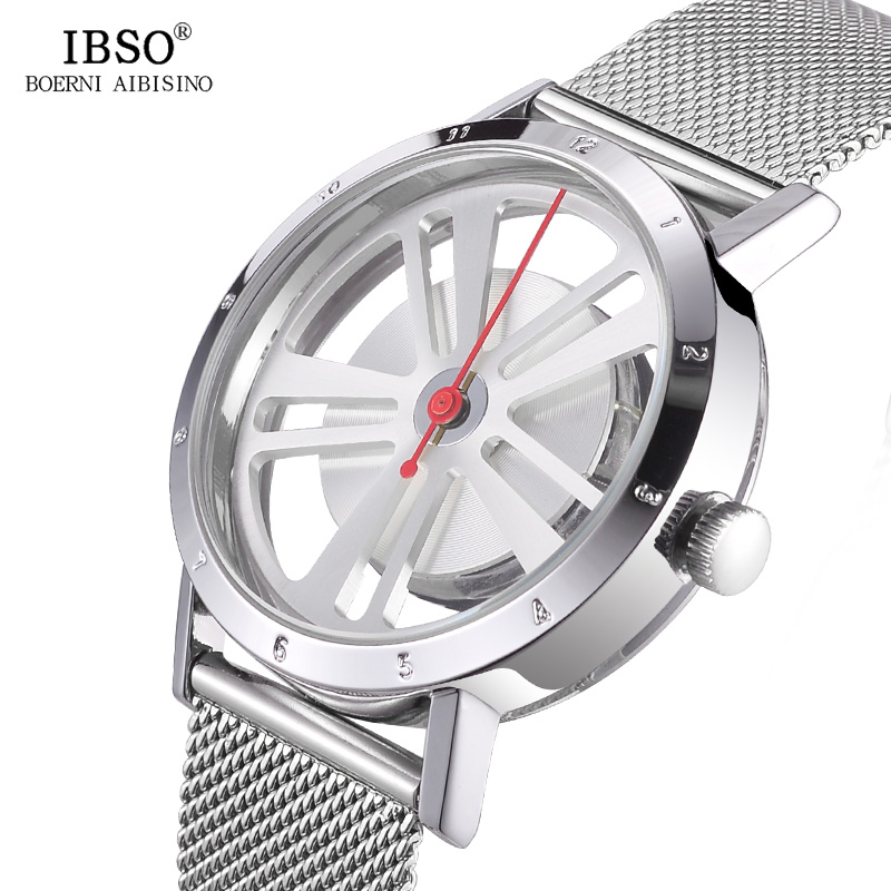 IBSO Creative Men Watches Rotatable Dial Quartz Watch Men's Luxury Silver Stainless Steel Relojes Hombre 2018 Male Wrist Watch все цены