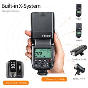 Image 3 - Godox TT600 2.4G Wireless Camera Flash Speedlite + X1T C/N/F Transmitter Wireless Flash Trigger for Canon Nikon Fujifilm Olympus