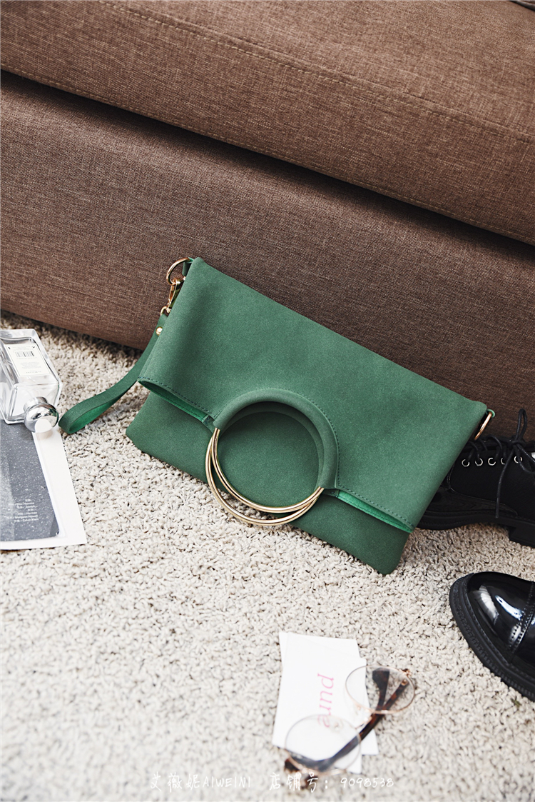 Casual Women Tote Bag 2 Pcs Set Folding Envelope Clutches Faux Suede Shoulder Bag Lady Hand Bag Black Red Shopper Handbag Purses 16