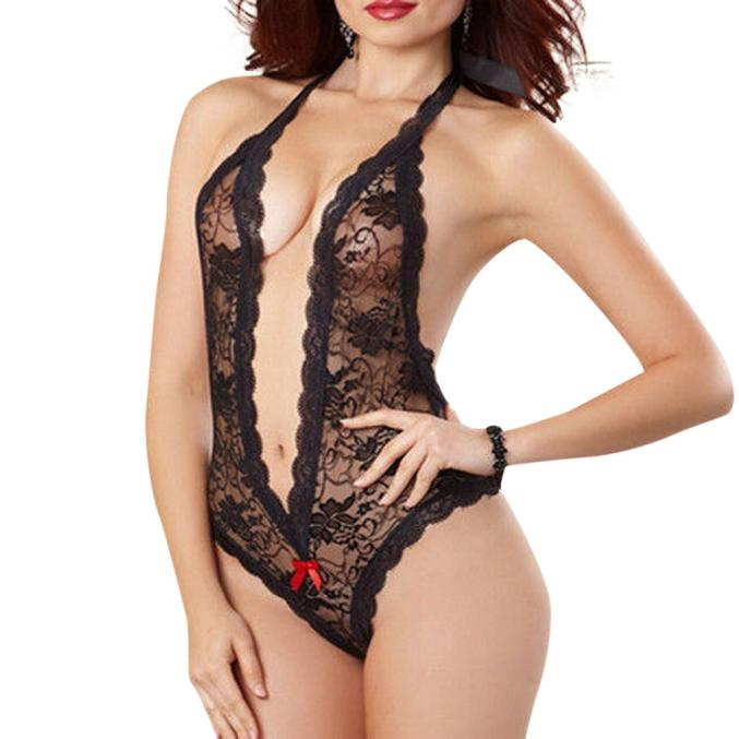Sexy Women Lace Babydoll Underwear Lingerie Dress Sleepwear