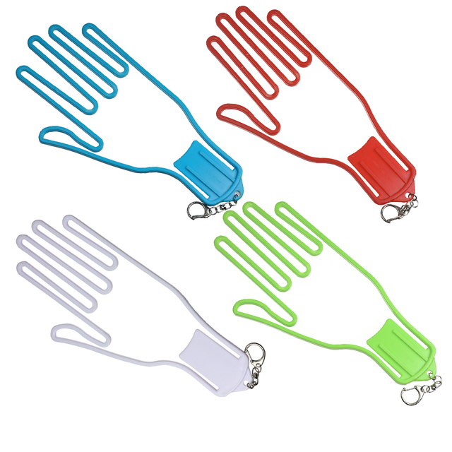 1PC Golf Gloves Holder Golf Gloves Stretcher Golfer Tool Gear Plastic Gloves Rack Dryer Hanger Stretcher with strap