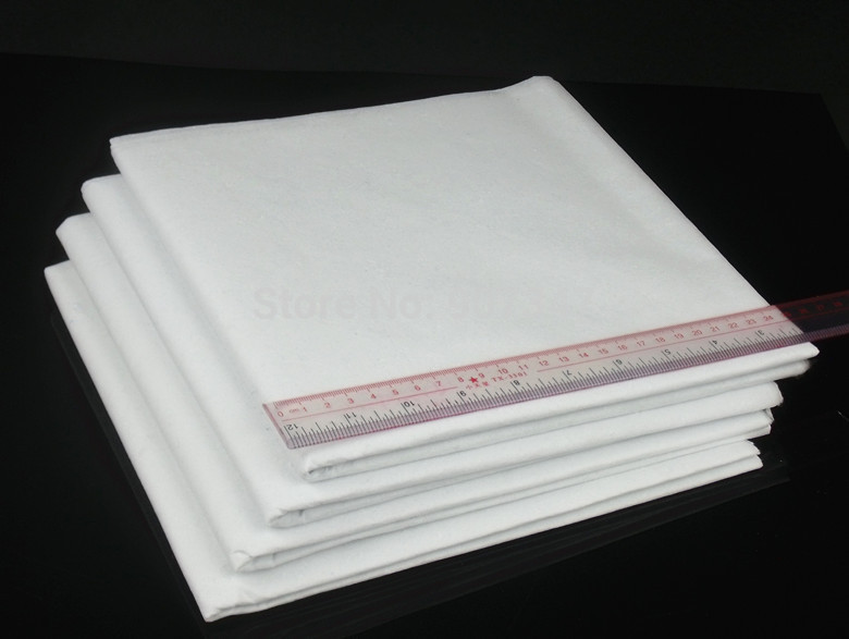 Super Tear Away Fabric Easy Cut Away Non Woven Interlining Cloth Ideal For Embroidery 4 Meters /Kit ,Pure White