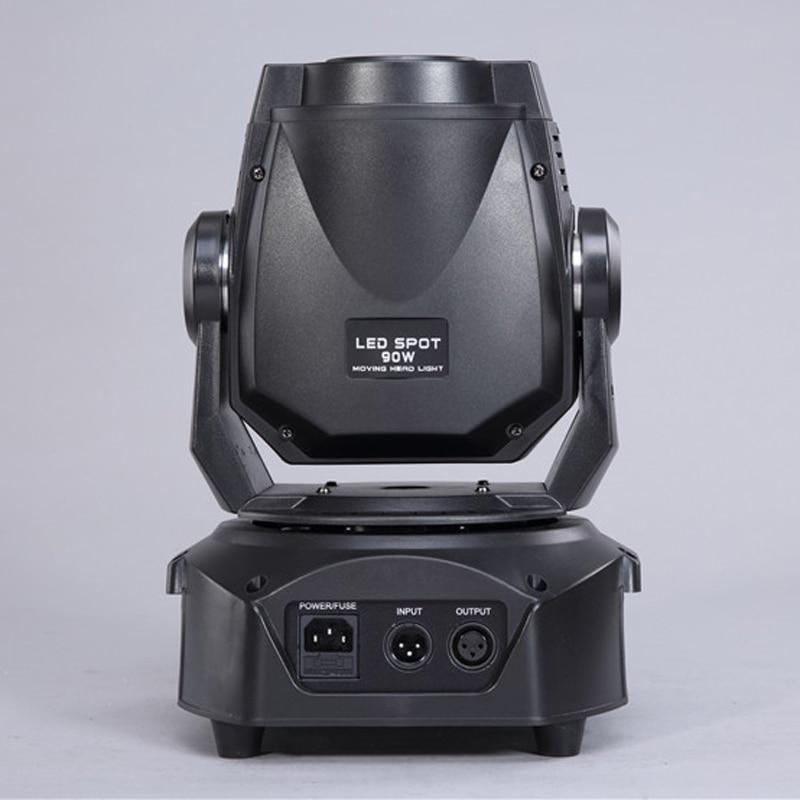 China supplier led gobo dmx light 90W mini moving head spot dj lighting with double gobo wheel dmx control for wedding show ktv