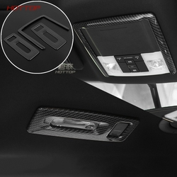 3 sztuk ABS przód/tył światła do czytania zdobione ramki dla Ford Explorer 2016 2017 węgla ABS InteriorDecoration wykończenia 1 sztuka