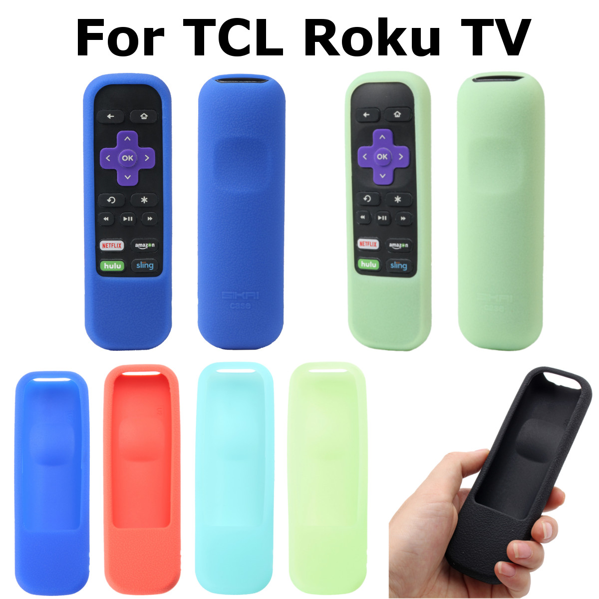 Soft Protective Silicone Remote Cover For TCL Roku Streaming Stick TV IR Standard Remote Control Case Semi Pack Type image